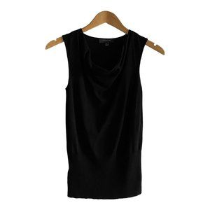 Ann Taylor Black Knit Sleeveless Cowl Neck Tank XS
